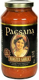 roasted garlic Paesana Nutrition info