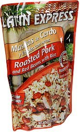 roasted pork and red beans with rice Latin Express Nutrition info