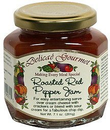 roasted red pepper jam Delicae Gourmet Nutrition info
