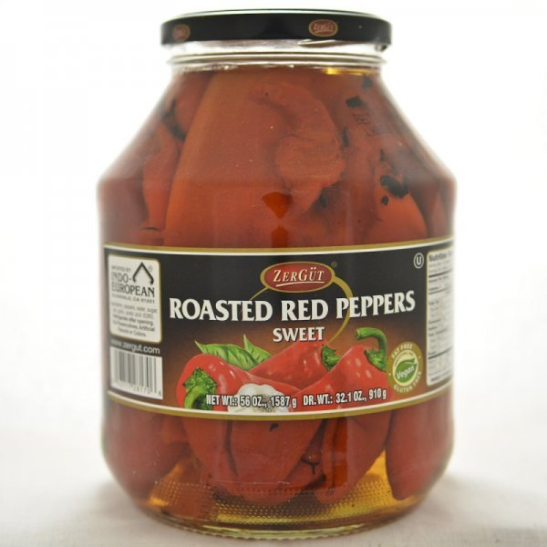 roasted red peppers Zergut Nutrition info