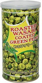 roasted wasabi coated green peas Tasty Joy Nutrition info
