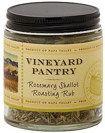 roasting rub rosemary shallot Vineyard Pantry Nutrition info
