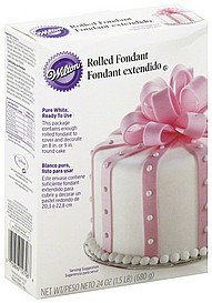 rolled fondant pure white Wilton Nutrition info