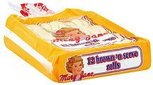 rolls brown 'n serve Mary Jane Nutrition info