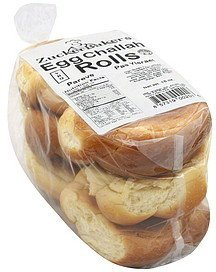 rolls egg challah Zucker Bakers Nutrition info