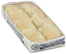 rolls french, brown 'n serve Franco American Bakery Nutrition info