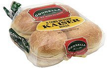 rolls kaiser, corn dusted Gonnella Nutrition info