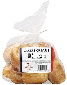 rolls soft Bakers of Paris Nutrition info