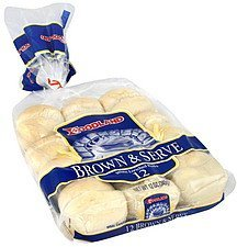 rolls white enriched, brown & serve Foodland Nutrition info
