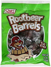 rootbeer barrels Shari Candies Nutrition info