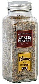 rub all purpose, house Adams Reserve Nutrition info