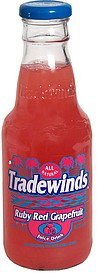 ruby red grapefruit juice drink Tradewinds Nutrition info