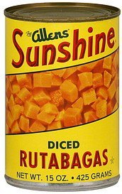 rutabagas diced Sunshine Nutrition info