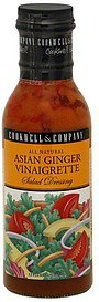 salad dressing asian ginger vinaigrette Cookwell & Company Nutrition info