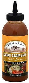 salad dressing carrot, ginger & miso Terrapin Ridge Nutrition info