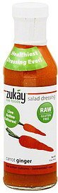 salad dressing carrot ginger Zukay Live Foods Nutrition info