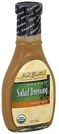 salad dressing organic, asian ginger Nash Brothers Trading Company Nutrition info