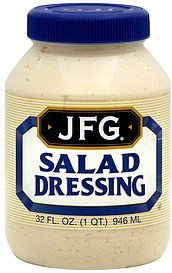 salad dressing JFG Nutrition info
