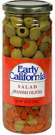 salad spanish olives Early California Nutrition info