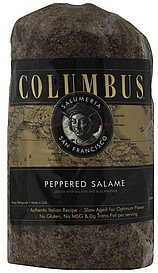salame peppered Columbus Nutrition info