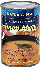 salmon bisque wild alaskan smoked Natural Sea Nutrition info