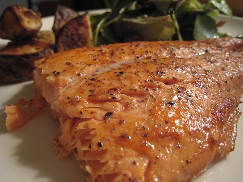 salmon, coho, farmed usda Nutrition info