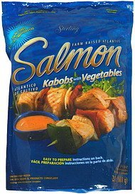 salmon kabobs with vegetables Sterling Nutrition info