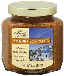 salmon mezza medley Splendid Spreads Nutrition info