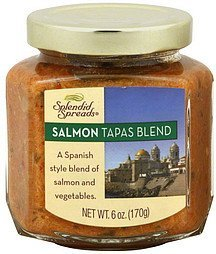 salmon tapas blend Splendid Spreads Nutrition info