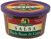 salsa black bean & corn Santa Barbara Nutrition info