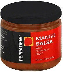 salsa mango, with  fruit Peppadew Nutrition info