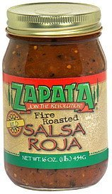 salsa roja fire roasted mild Zapata Nutrition info