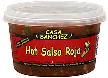 salsa roja, hot Casa Sanchez Nutrition info