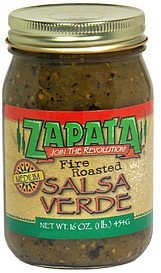 salsa verde fire roasted medium Zapata Nutrition info