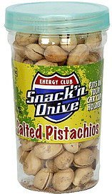 salted pistachios snack' n drive Energy club Nutrition info