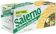 saltine crackers, fat free Salerno Nutrition info