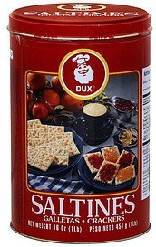 saltines crackers Dux Nutrition info