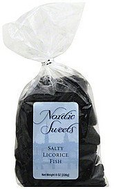 salty licorice fish Nordic Sweets Nutrition info