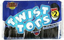sandwich cookies chocolate Twist Tops Nutrition info