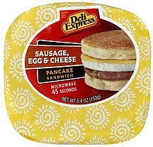 sandwich pancake, sausage, egg & cheese Deli Express Nutrition info