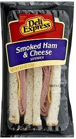 sandwich smoked ham & cheese Deli Express Nutrition info