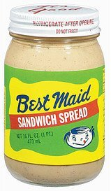 sandwich spread Best Maid Nutrition info