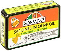 sardines in olive oil Gonsalves Nutrition info