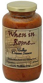sauce cream, vodka When In Rome Nutrition info
