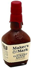 sauce gourmet, bourbon flavored Makers Mark Nutrition info