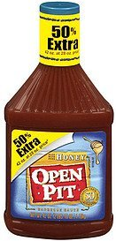 sauce honey barbecue Open Pit Nutrition info