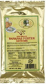 sauce mix new orleans bananas foster Chef Hans Nutrition info