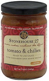 sauce tomato & chilies, medium Stonehouse 27 Nutrition info