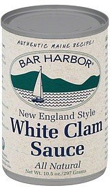 sauce white clam, new england style Bar Harbor Nutrition info