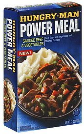 sauced beef & vegetables Hungry-Man Nutrition info